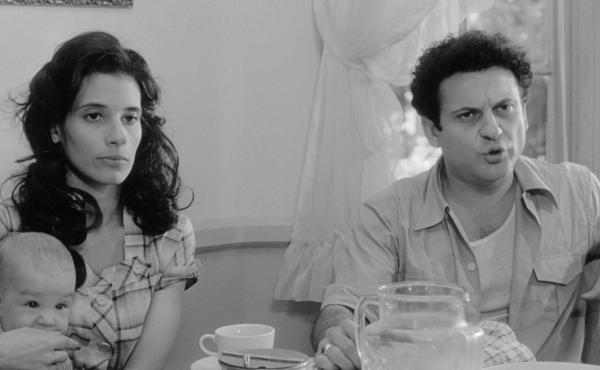 Actors Theresa Saldana and Joe Pesci in the 1980 film Raging Bull. Saldana died at the age of 61.