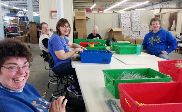 Most employees at Production Unlimited say they're happy at this sheltered workshop in Watertown, N.Y. But disability advocates say they'd get paid minimum wage, enjoy socializing with nondisabled people and no longer be segregated if they get jobs in com