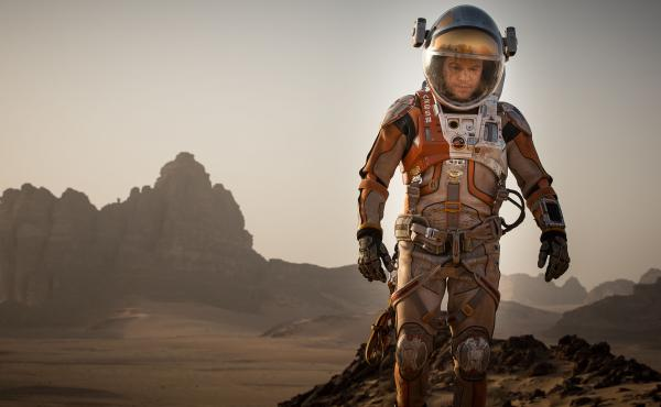 Matt Damon plays Mark Watney, the stranded astronaut at the heart of The Martian.
