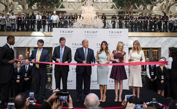 President-elect Donald Trump officially opened up his latest hotel in the Old Post Office Building in Washington, D.C., in October.