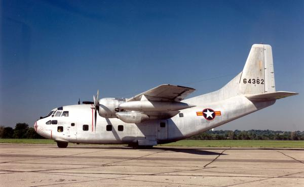 A Fairchild C-123K Provider at the National Museum of the United States Air Force.