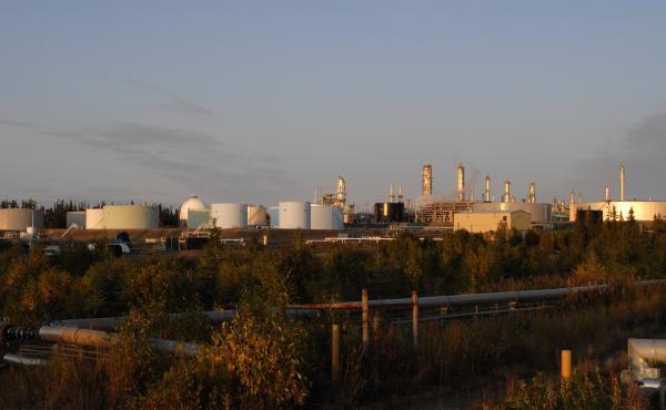 The Tesoro Refinery at Nikiski in Kenai, Alaska, in 2008.