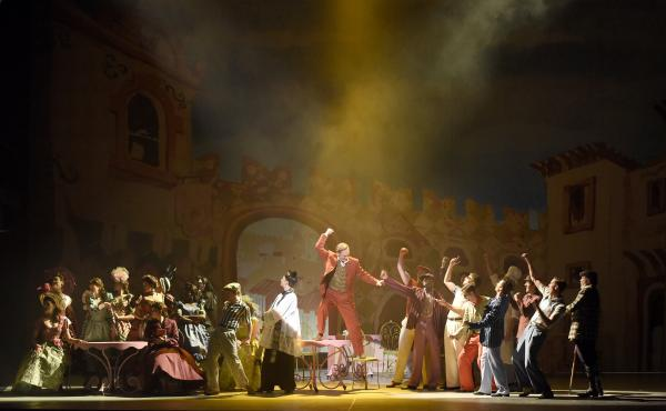 """Kiss Me, Kate is the latest in a series of American musicals to be performed at the Theatre du Chatelet in Paris. """"It is such a glorious theater to perform in,"""" says director Lee Blakeley."""