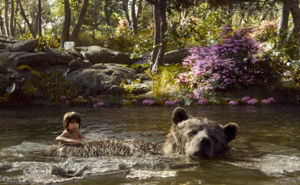 Mowgli and Baloo in The Jungle Book.