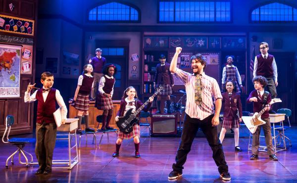 Alex Brightman stars as Dewey Finn — a rocker turned substitute teacher — in the musical adaptation of School of Rock.