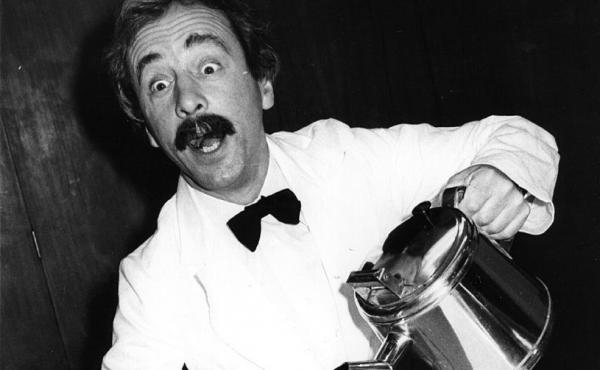 Fawlty Towers actor Andrew Sachs was photographed in a 1981 training manual for caterers.