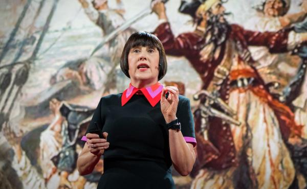 Design critic Alice Rawsthorn speaking at TED in Vancouver.