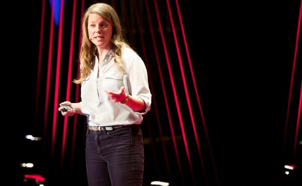 Dr. Nicole Garneau talks about taste on the TED Stage.