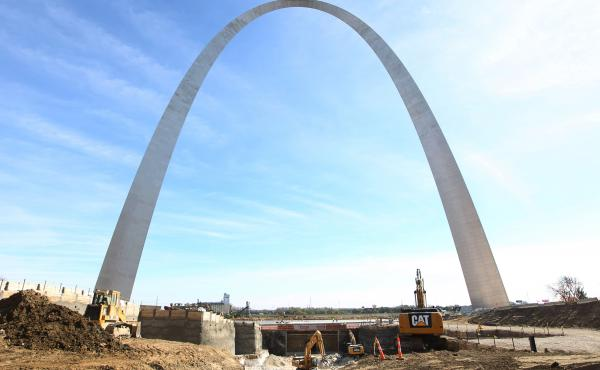 The Gateway Arch in St. Louis remains the tallest man made monument in the United States. A new museum under construction on the Arch's grounds will reopen in 2017.