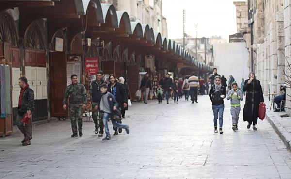 "In central Damascus, it's clear that President Bashar Assad is firmly in control. People close to the regime and government officials say the mood in the city is ""better"" as regime forces make gains in rebel-held areas."
