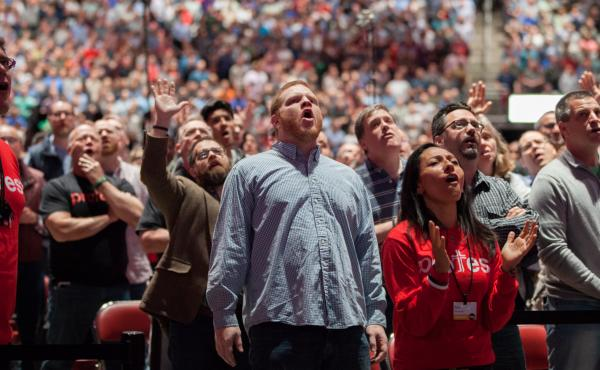 The audience at last month's Together for the Gospel conference in Louisville, Ky.