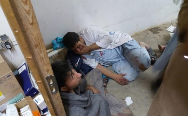 Injured Doctors Without Borders staff find shelter in a safe room after an airstrike on their hospital in Kunduz, Afghanistan.