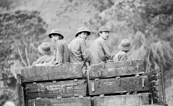 Vietnamese forces travel toward the country's northern border during a brief, bloody war with China in 1979.