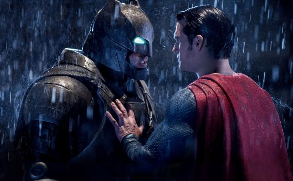 Ben Affleck as Batman and Henry Cavill as Superman in Batman v Superman: Dawn of Justice.