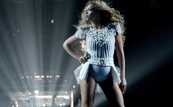 """Beyonce performs onstage during """"The Mrs. Carter Show World Tour"""" in Los Angeles."""