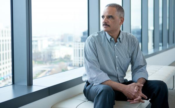 Former Attorney General Eric Holder poses for a portrait at CityCenterDC, Friday, Dec. 11, 2015 in Washington, D.C.