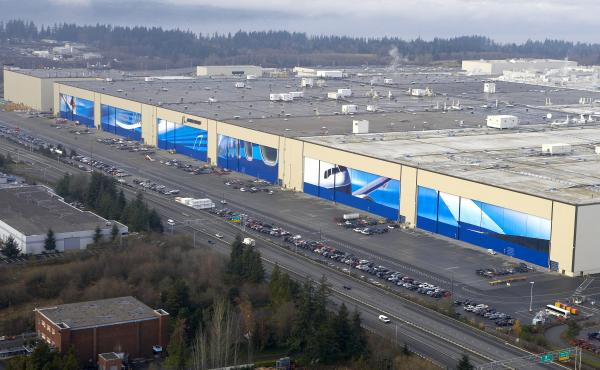 Most of Boeing's job cuts this year will come from the commercial jetliner workforce at Boeing facilities in western Washington, including at the company's wide body assembly factory in Everett.
