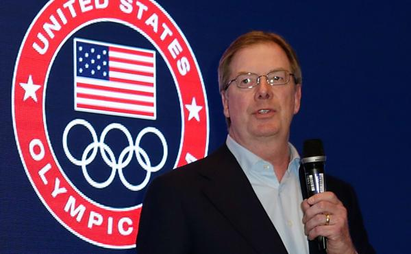 The U.S. Olympic Committee has chosen Boston to bid on hosting the 2024 Summer Olympics. Committee Chairman Larry Probst is seen speaking last February.