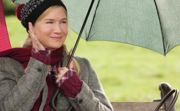 London's Bridget, falling down. Bridget Jones (Renee Zellweger) in Bridget Jones's Baby.