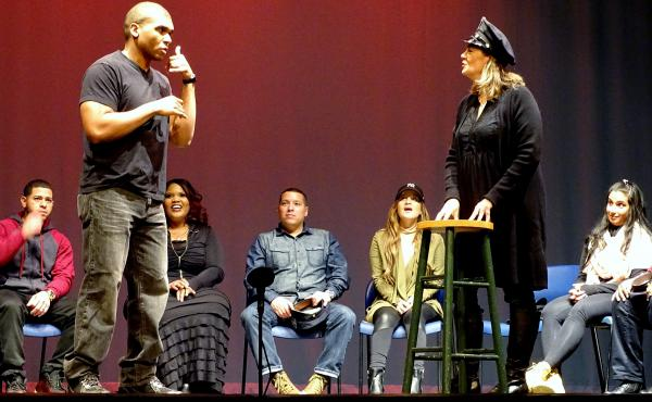 Starting in October, seven police officers and seven civilians got together once a week to get to know one another and do improvisational exercises. At the end of the 10-week journey they starred in To Protect, Serve, and Understand, a free show at the Br