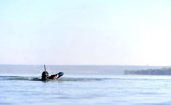 Ben Lecomte has swum across the Atlantic Ocean, and now he aims to traverse the Pacific, which will take him five or six months.