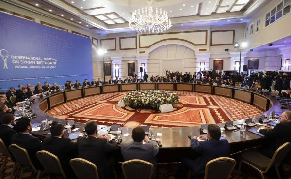 Delegates from Russia, Iran and Turkey lead talks on Syrian peace in Astana, Kazakhstan, where U.S. involvement is minimal compared to other recent attempts to end Syria's civil war.
