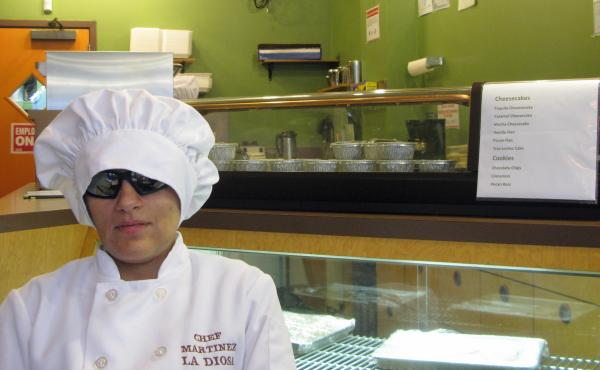 Laura Martinez may be the only blind chef in the country running her own restaurant. La Diosa opened in January. Martinez was hired directly out of culinary school by acclaimed Chicago chef Charlie Trotter and worked for him until his restaurant closed in