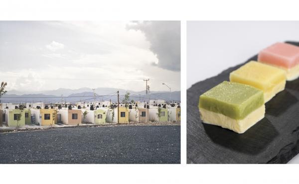 Alejandra Cartagena's photograph Fragmented Cities, Juarez #2 was the inspiration for Freeman's Cartagena vanilla ice cream and sorbet trio.