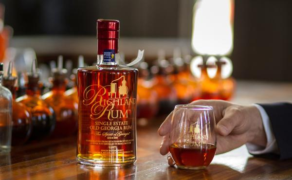 Richland Single Estate Old Georgia Rum is made from cane grown, cut, distilled and rested on the premises of a 100-acre plantation in Richland, Ga. International awards and gold medals have poured in for this field-to-glass rum.