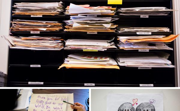 In a small room in the Eisenhower Executive Office Building, mail from children is read, sorted into categories and answered by staff — except for the few that are sent every week to President Obama. The letters are eventually stored at the National