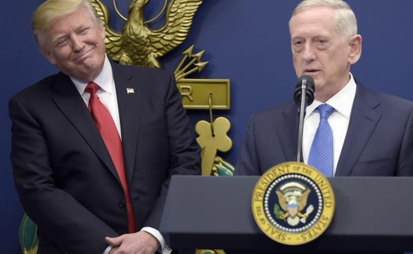 Defense Secretary Jim Mattis seems to be aiming to reassure U.S. allies while overseas. Ahead of an unannounced visit to Iraq, Mattis rejected President Trump's statements that the U.S. should have seized Iraqi oil after the invasion.