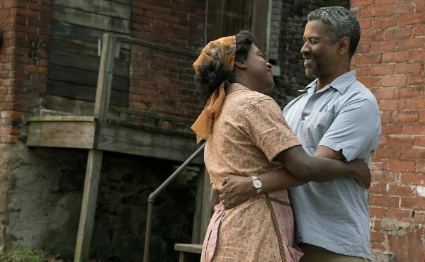 """Denzel Washington says his character, Troy, """"thinks he can control death and the devil, and he finds out in the worst way that he can't."""" Washington stars alongside Viola Davis in Fences."""
