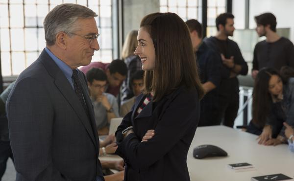 Anne Hathaway is the CEO and Robert De Niro is the intern in Nancy Meyers' new comedy, The Intern.