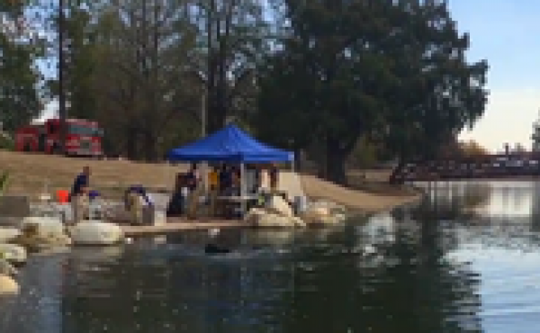 FBI divers are searching a San Bernardino lake for any evidence pertaining to the Dec. 2 shooting rampage that left 14 people dead.