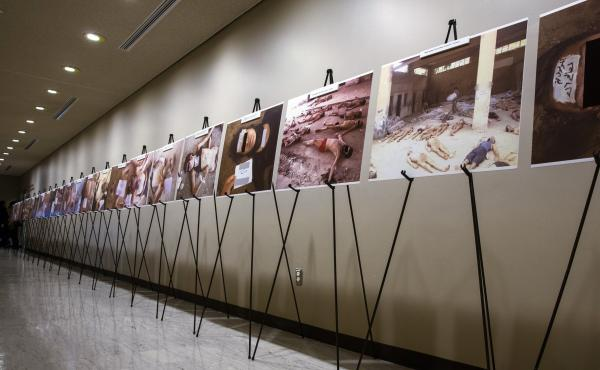Images of dead bodies in Syrian prisons, taken by a Syrian forensic photographer, were displayed at the United Nations last year. They were also put on exhibit at the U.S. Capitol last July. A range of activists and groups are trying to find better ways t