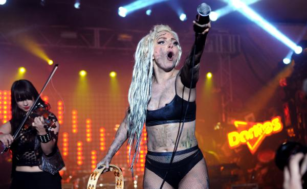 At SXSW 2014, pop star Lady Gaga performed on a stage made to look like a five-story-tall Doritos vending machine, which won't be returning this week.