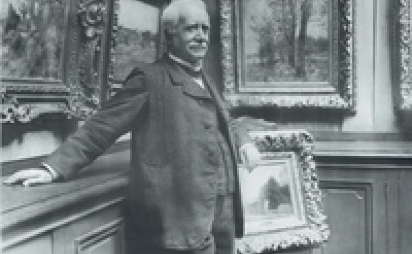 Paul Durand-Ruel, shown above in his gallery in 1910, acquired some 5,000 impressionist works — long before others were buying them.