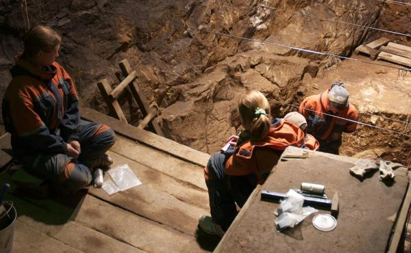 Researchers from the Max Planck Institute excavate the East Gallery of Denisova Cave in Siberia in August 2010. With ancient bone fragments so hard to come by, being able to successfully filter dirt for the DNA of extinct human ancestors can open new door