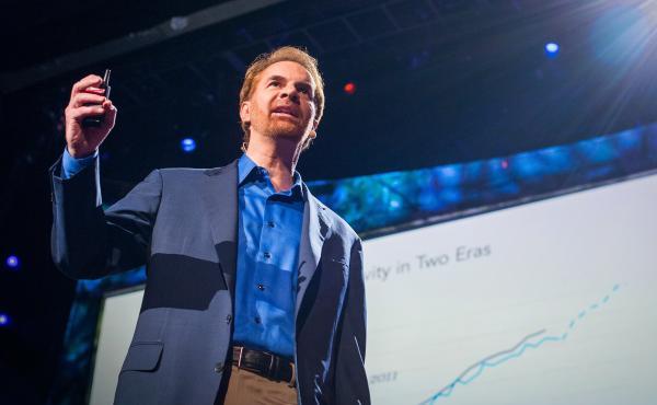 Erik Brynjolfsson on the TED Stage.