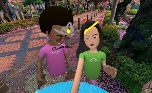 """NPR reporter Aarti Shahani tested Facebook's new social VR platform. She requested an older avatar to represent her, but that was not available. Her guide """"Neil"""" had her tour virtual cherry blossoms."""