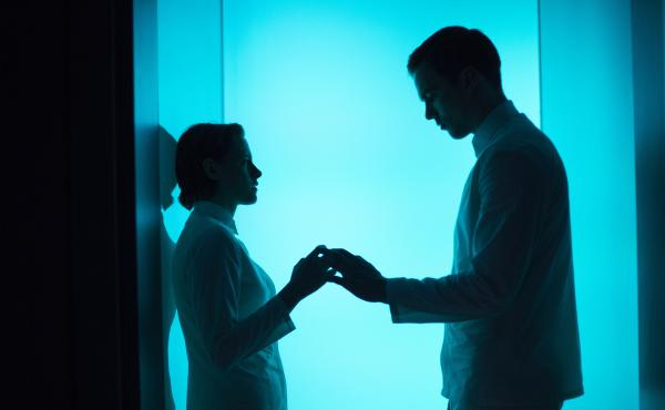 Equals imagines a dystopian future where feelings are forbidden, but co-workers Silas (Nicholas Hoult) and Nia (Kristen Stewart) can't help it.