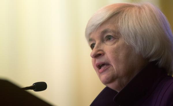 Federal Reserve Chair Janet Yellen delivers a speech on economic outlook and monetary policy on Monday in Philadelphia.