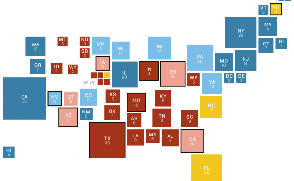 NPR election battleground map for November 2016