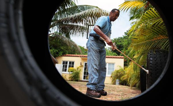 Sporadic dengue fever outbreaks in Florida in 2009 and 2010 spurred mosquito control efforts in Key West and Miami Beach, shown here. The same mosquito that carries dengue, Aedes aegypti, can transmit Zika.