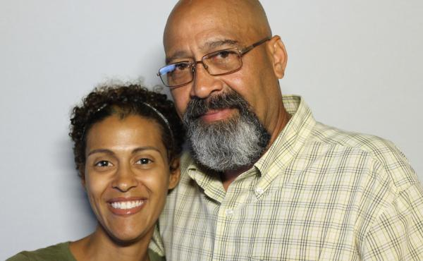 Arnaldo Silva with his daughter Vanessa at StoryCorps.