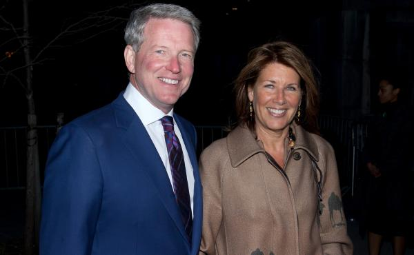 David Westin — seen with his wife, Sherrie Westin — is a former president of ABC News. He now hosts Bloomberg TV's morning show, Bloomberg GO.