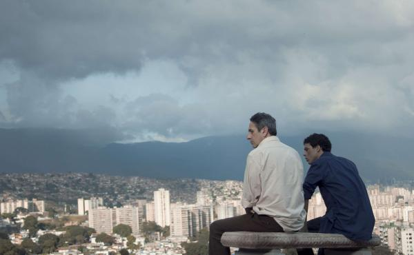 Alfredo Castro (left) and Luis Silva star in From Afar, a thriller from Caracas that blends social and sexual politics.