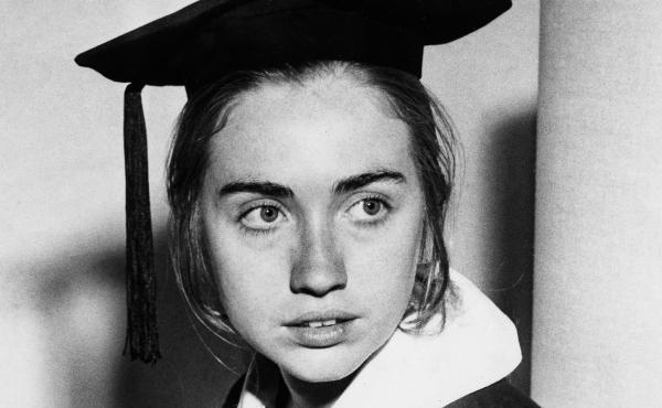 Hillary Rodham Clinton as a Wellesley College senior, May 31, 1969.