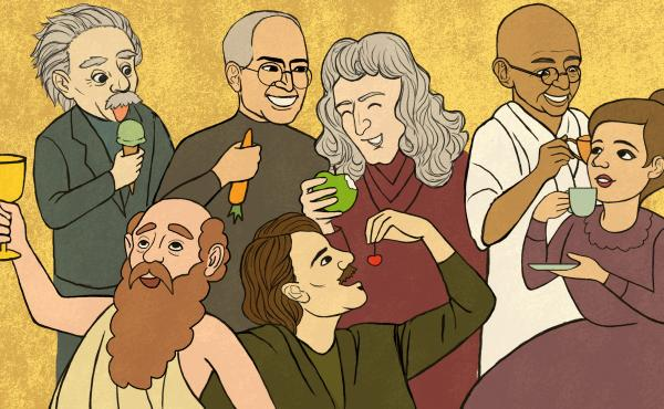 Albert Einstein, Steve Jobs, Isaac Newton, Gandhi, Pythagoras, Balzac, Marie Curie — scanning history's greatest minds, we find many were inspired by certain food or drink, repulsed by others, or had some very peculiar dining habits.