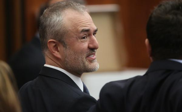 Nick Denton, seen here during his legal battle with Terry Bollea, aka Hulk Hogan, has filed for Chapter 11 bankruptcy protections for Gawker Media, the company he founded 13 years ago.